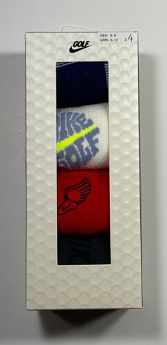 NIKE GOLF PAIR FOR THE COURSE 4 PACK CREW SOCKS MULTI COLOR - CN1543 902 SZ M