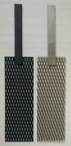 "(Ir-Ru) MMO Mesh Anode & Titanium Mesh Cathode Set, 2"" by 6"", stem handle"