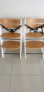 2x Mocka soho wooden high chair