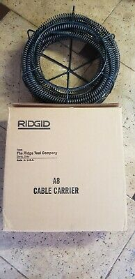 New Ridgid 59470 A-8 Cable Carrier 1- 14 With 75 Of New Cable Snake