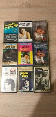 Vintage Lot 9 K7 Cassette audio JULIEN CLERC