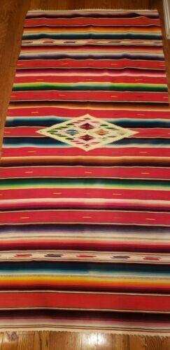 Vintage Native American Colorful Wool Runner