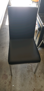 Leather Chairs Black 4 chairs sell $300 Epping Whittlesea Area Preview