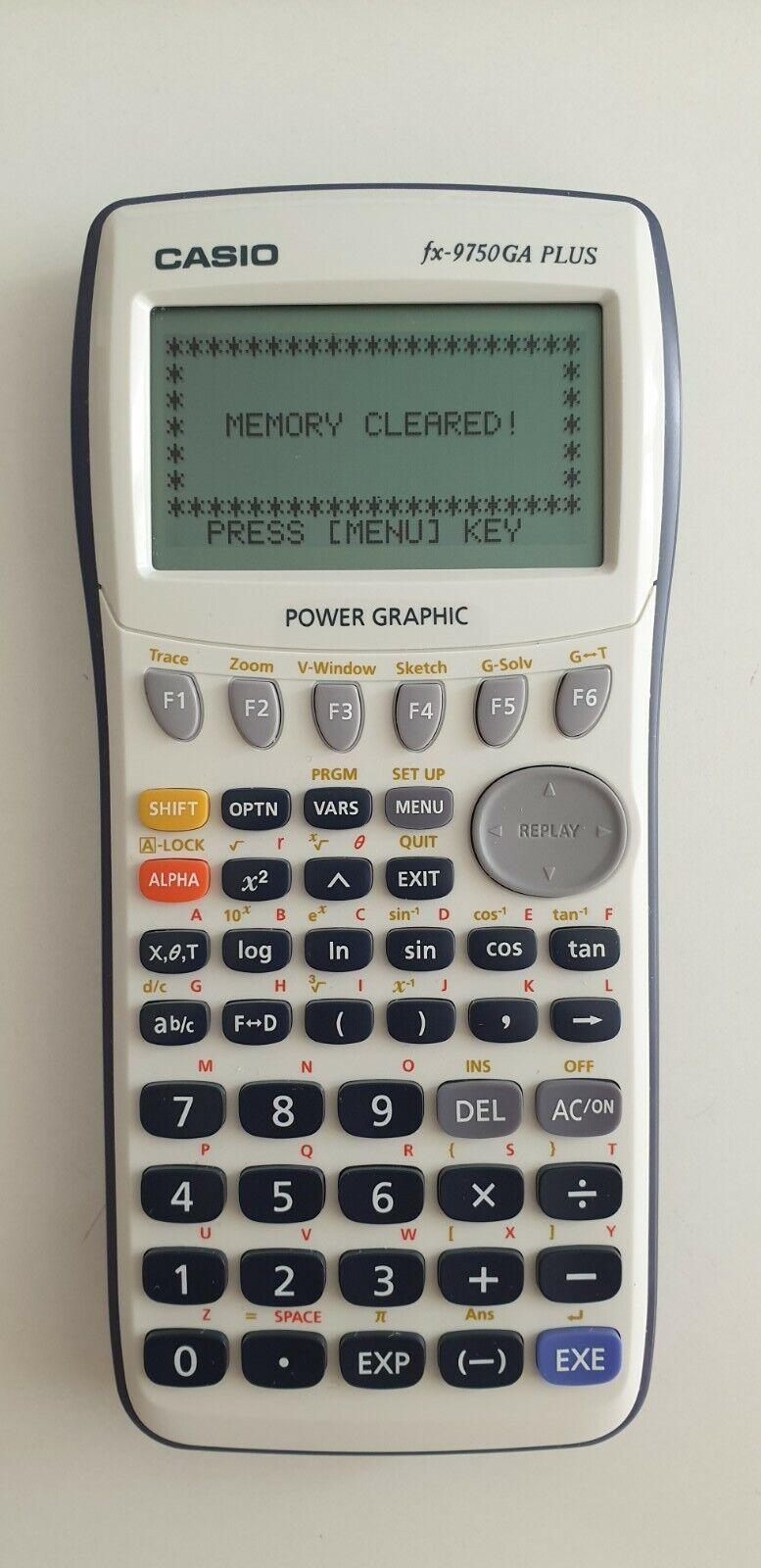 Casio FX-9750GA Plus Grafischer Taschenrechner