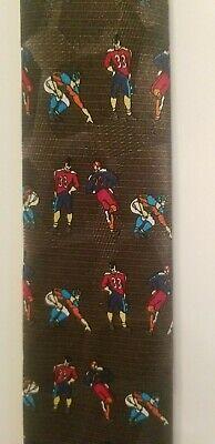 1960s – 70s Men's Ties | Skinny Ties, Slim Ties 1960s STAGG Leatherhead FOOTBALL Player Short Slim Young Gent's Boys Tie Necktie $9.00 AT vintagedancer.com