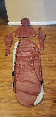 Pelton Crane Sp15 Dental Chair Aphulstery Wine Color Plush