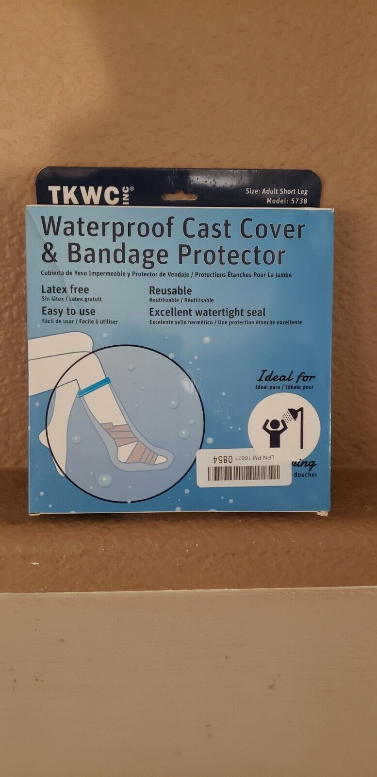 TKWC Waterproof Adult Short Leg Cast Cover Bandage Protector, Open Box - $10.00