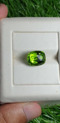 Natural Pakistani peridot fine fancy cut and color 9.55ct