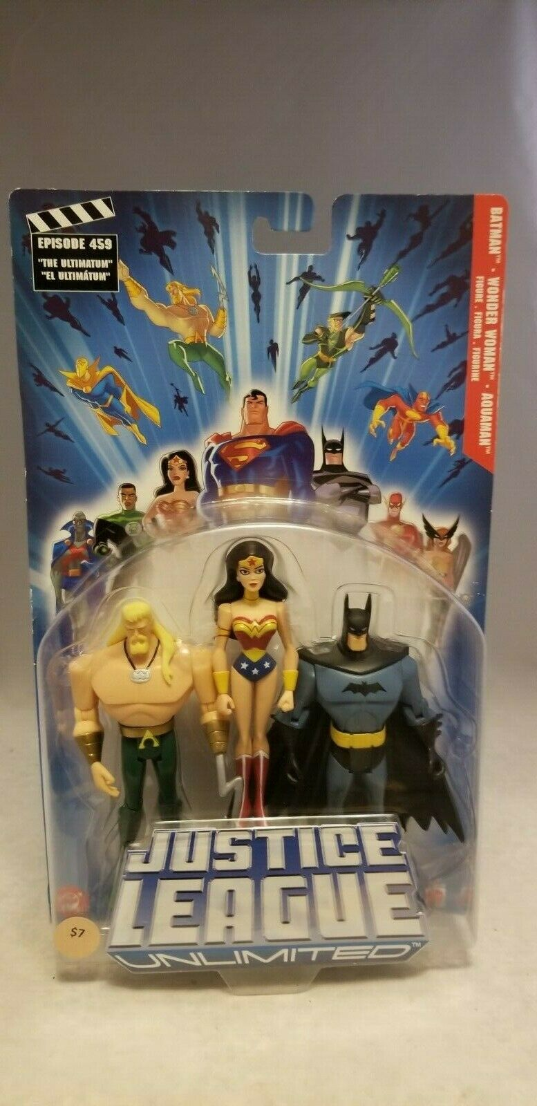 2005 JUSTICE LEAGUE UNLIMITED BATMAN, WONDER WOMAN, AQUAMAN 3 PACK