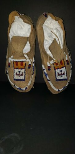 Authentic Cheyenne Beaded Moccasins