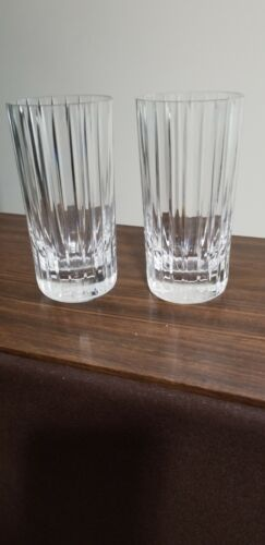 Two Baccarat 8 Oz Crystal Drink Glasses