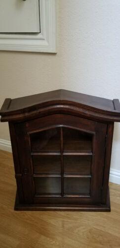 Solid wood medicine wall cabinet