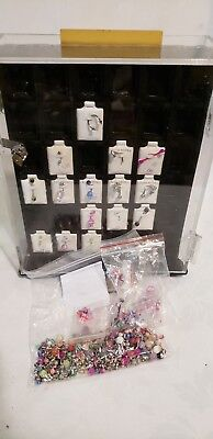 (Spinning Locking Body Jewelry Display - Belly & Tongue Inserts Acrylic Clear )