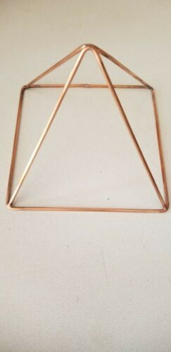 """Copper Pyramid, 9"""" Sides, Standing Height 7"""", Handmade"""