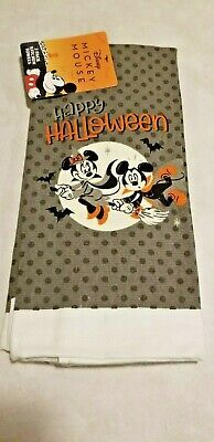 Disney mickey minnie halloween fall trick or treat kitchen hand towel 2 pack