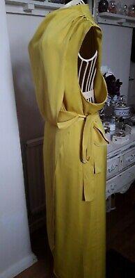 Yellow Issa High Neck Wrap Style Midi Dress Size 14/16