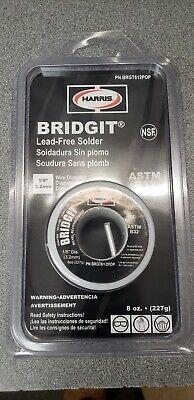Harris Bridgit Lead-free Solder Nsf 8oz. Wire 18 Diameter Brgt612pop