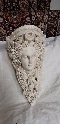 Plaster head wall shelf  Item # mm5, used for sale  Shipping to India