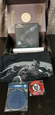 LOOT CRATE misc box,Items include,Black Panther XL Shirt,The Expanse,Pacific Rim