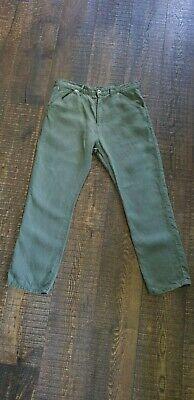 junya watanabe comme des garcons man olive linen mens trousers work pants