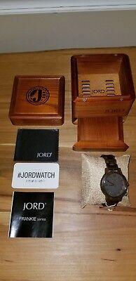 Brand New JORD Frankie Series Dark Sandalwood & Smoke Wood Wrist Keep an eye open for w/ Box