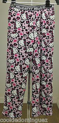 Sanrio HELLO KITTY Girl's PJ Fuzzy Velour Pajama Pull on Pants Size Small S - Girls Pajama Sale