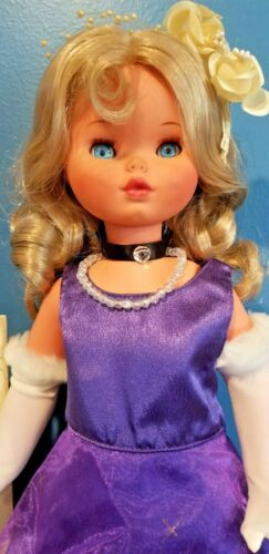"12"" Vintage Furga Blonde Italian Doll 1960's Adorable eyes"