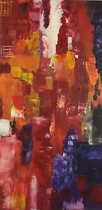 Abstract original painting on canvas ready to hang Lane Cove North Lane Cove Area Preview