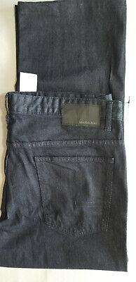 CALVIN KLEIN CK Men Straight Fit Stretch Cotton Denim Jean - 38x30 Dark Blue NEW