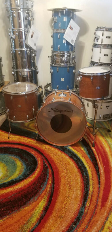 "Slingerland Drum Set 24"" 15"" 18"" Wood"