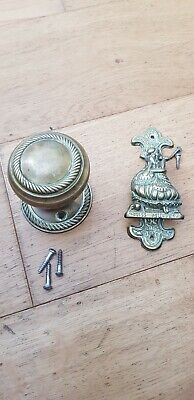 Brass Door Knocker Little Miss Muffet Vintage Small Antique and Door handle