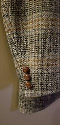 Vintage Tweed Plaid Check Tiger of Sweden Blazer Sport Coat Virgin Wool Men 38S