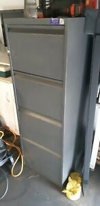 Large Grey 4 draw filing cabinet