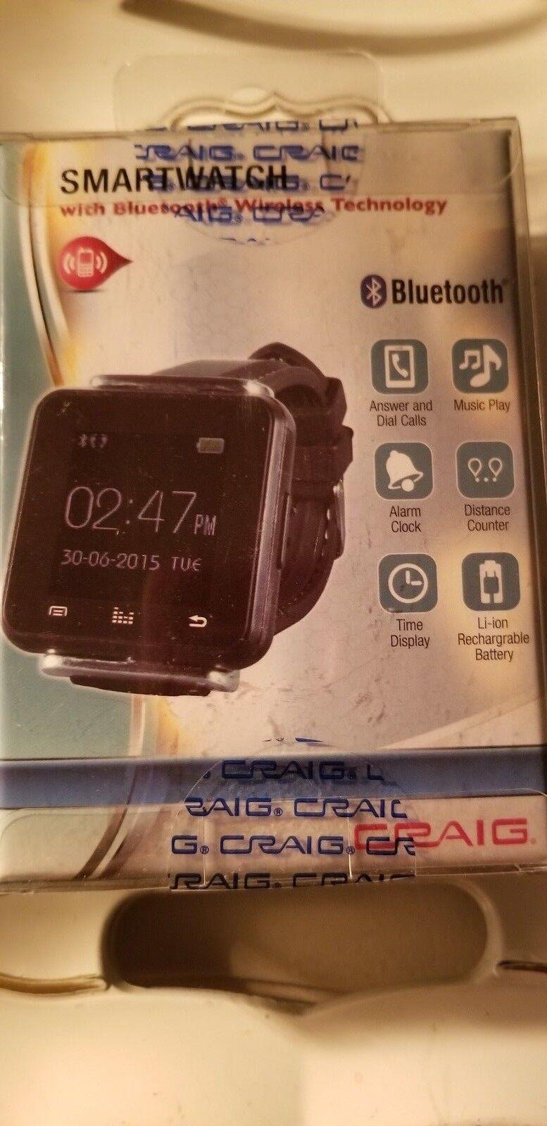 Craig Electronics CC430 Smartwatch Caller ID Bluetooth Wirel