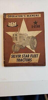 Minneapolis Moline 5 Star Operators Manual Silver Star