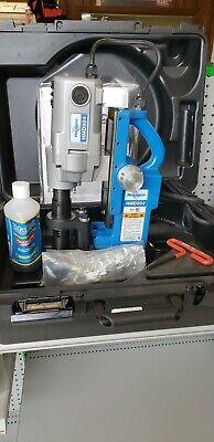 Hougen Hmd904 Magnetic Mag Drill Press 115v W Carrying Case