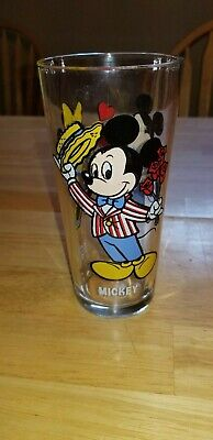 Vintage Pepsi Mickey Mouse Happy Birthday Mickey Series Glass 1978