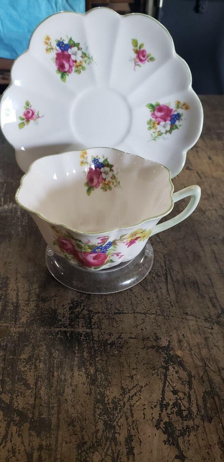 Shelley China Hulmes Rose cup and saucer
