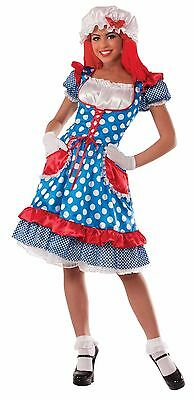 Rag Doll lady Costume Raggedy Ann One Size up to 14/16 New by Forum 73195 (Raggedy Ann Doll Costume)