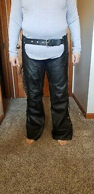 Ladies motorcycle leather - Ladies Leather Chaps Pants