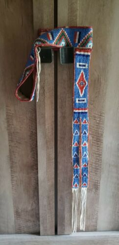 Authentic Sioux Indian Beaded Belt.