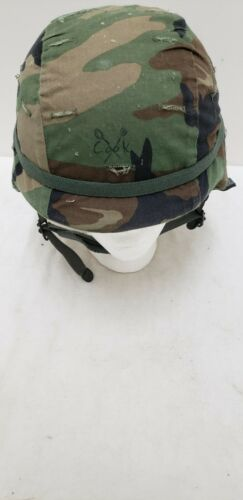 Military Issued Woodland Made with Kevlar Helmet Complete-Medium
