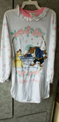 New Vintage Disney Girl's Beauty And The Beast Belle Nightgown Pajama Size 10