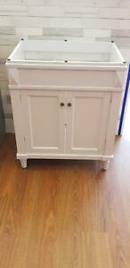 Bathroom Solid Wood Vanity White 750mm