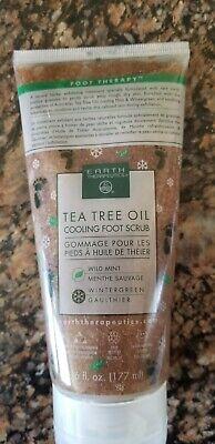 Earth Therapeutics Tea tree oil cooling foot scrub 6 oz (Earth Therapeutics Tea Tree Oil)