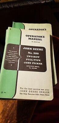 John Deere No. 226 Two-row Mounted Corn Picker Operators Manual Om-n7-249