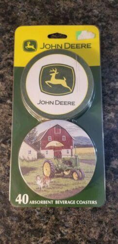 NOS John Deere 40 Pack Absorbent Beverage Coasters