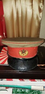 WWII original IMPERIAL GUARD  Japanese Army OFFICER HAT COLLECTIBLE ANTIQUE