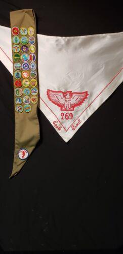 Vintage Eagle Scout Kerchief & Badge Sash
