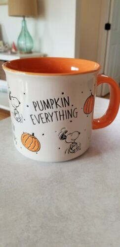 Peanuts snoopy charlie brown mug cup halloween fall pumpkin everything